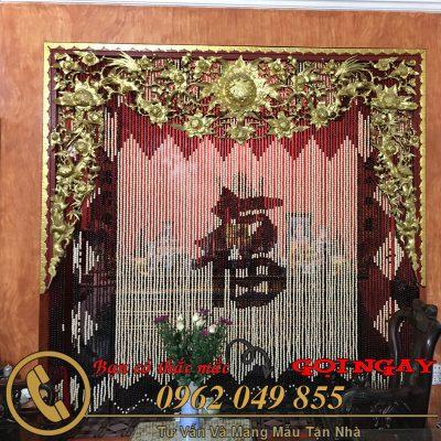 Rèm hạt gỗ chữ Phúc mang lại giá trị tâm linh cho gia đình Việt